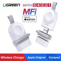 Cargador inalámbrico Ugreen para Apple Watch cargador serie 5/4/3/2/1 MFi cargador magnético estación cargador portátil carga inalámbrica