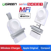 Ugreen Wireless Charger for Apple Watch Series 5 4 Portable Fast USB Charger 44/38mm No Charger Cable Magnetic Wireless Charging