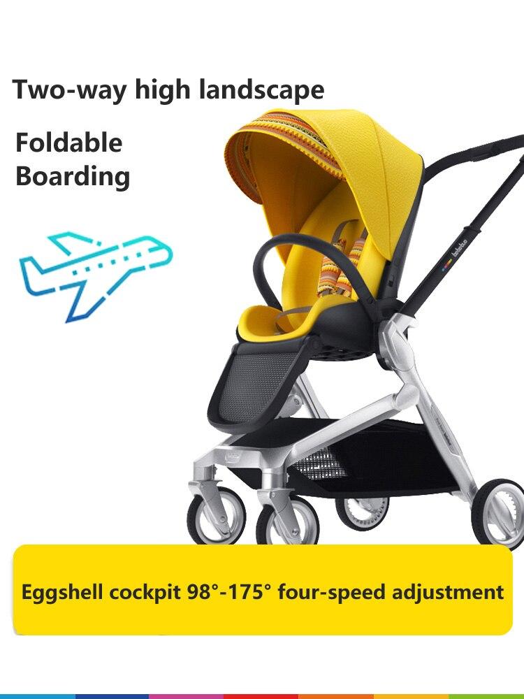 Bebebus bébé poussette lumière bidirectionnelle haute paysage peut s'asseoir sur le pliage inclinable