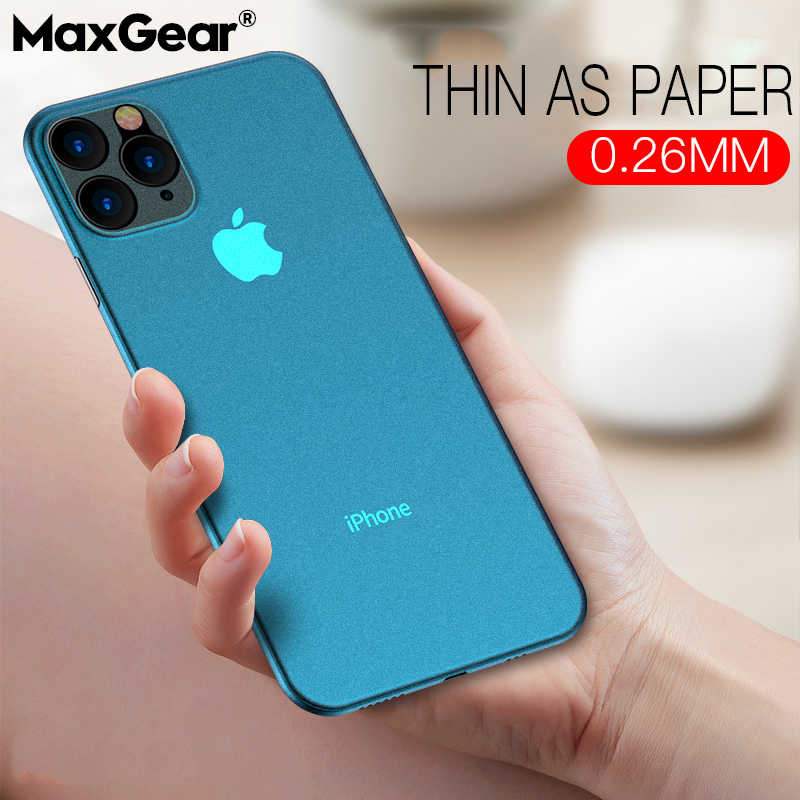 Funda de lujo ultrafina suave de 0,2mm PP mate para iPhone 11 Pro XS Max XR XS X funda para iPhone 6s 7 8 Plus SE 2 funda a prueba de golpes