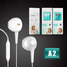 Hifi wired Headphones 3.5mm in-ear subwoofer earphone sports Mic earbuds Wired for Apple Android computer MP3