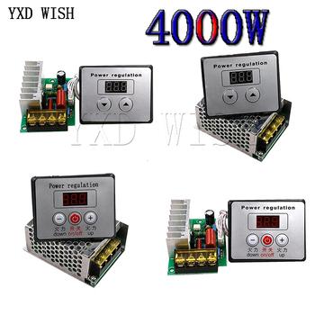 AC 220V 4000W SCR Regulator napięcia ściemniacze ściemniacze Regulator prędkości silnika termostat elektroniczny Regulator napięcia moduł tanie i dobre opinie CN (pochodzenie) JEDNOFAZOWE 2000W