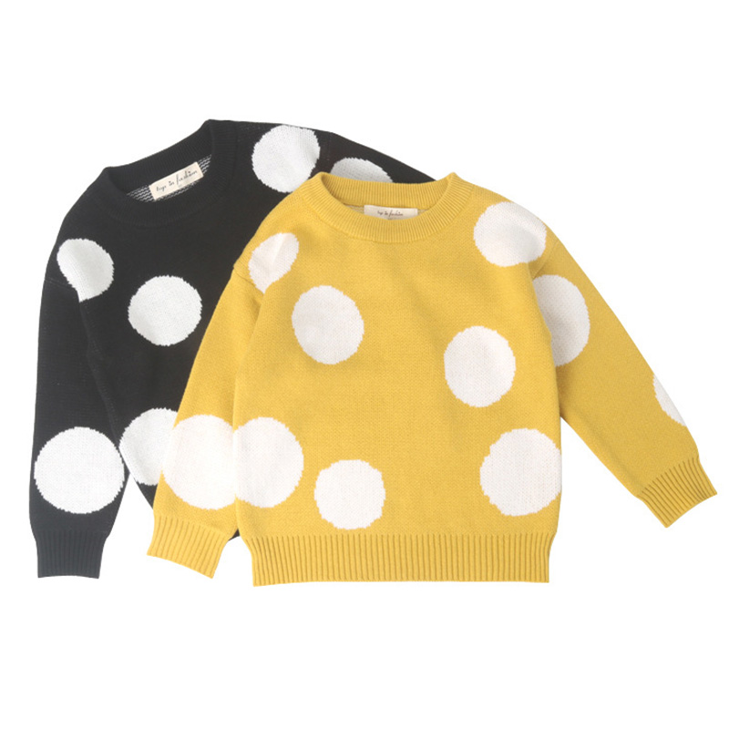 2019 Children Baby Girls Dot Sweater Boys Autumn Winter Girls Kids Girls Boys Sweater Clothes 1 -6 years 1