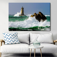 Wall Art Canvas Poster And Print Lighthouse Sea Wave Landscape Canvas Painting Decorative Picture Living Room Home Decor Artwork sleeping sexy model wall art canvas poster and print canvas painting decorative picture modern living room home decor framework