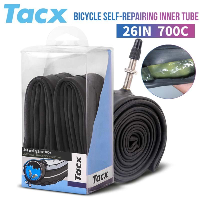 Chambre à air de vélo pneus route vtt vélo intérieur pneu Tube Anti crevaison 26*1.5-1.75-2.125 700*18/25C Tube pneu vtt