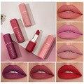 6 farben Matte Wasserdicht Samt Lippenstift Sexy Rot Braun Pigmente Make-Up Lang Anhaltende Profissional Lippenstift