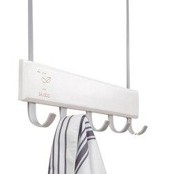 Over Door Hooks Multifunction Hanging Rack Wooden Coat Hanger Door Hook Rack Wall Hanging Rack for Cloth Pants Hat Towel Punch F