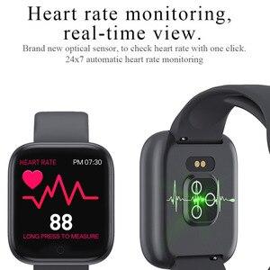 Image 4 - Reloj inteligente T85 con pantalla a Color, pulsera deportiva con control del ritmo cardíaco, la presión sanguínea y el oxígeno