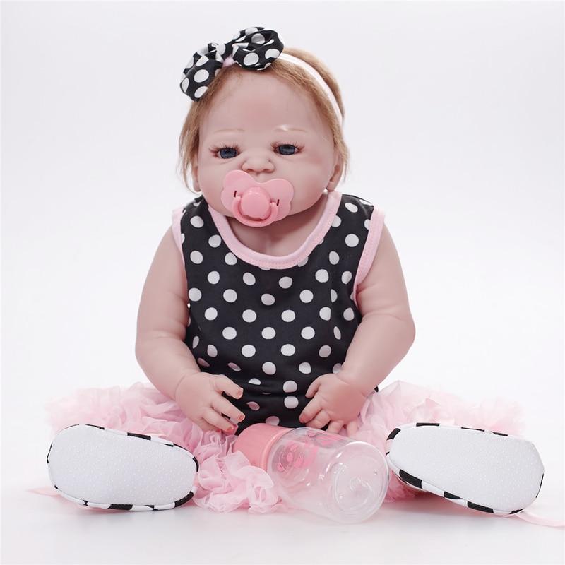 Bebes Reborn poupée 55 CM vivant réaliste bébé poupées réaliste nouveau-né bébé poupée LOL poupées accompagner poupées de mode poupées pour enfant - 2