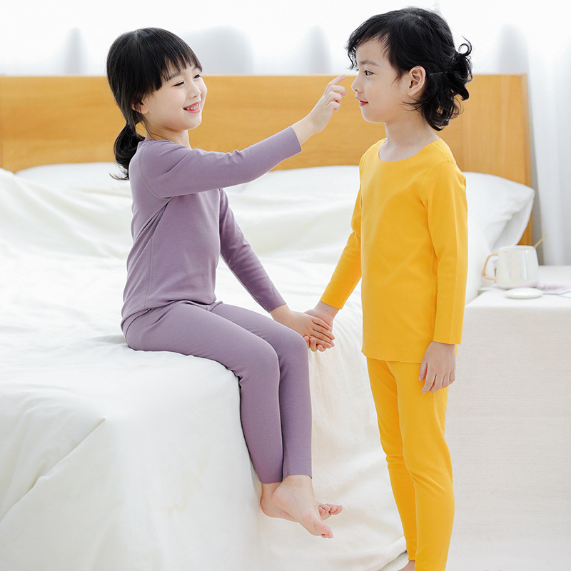 Children Thermal Underwear Modal Dralon Fever Seemless Double-Sided Brushed Female Baby Thermal Underwear BOY'S