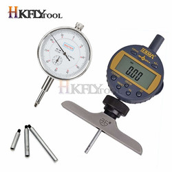 Dial Indicator Holder with Dial Indicator Depth Point  Indicator with Lug Back 0-12.7mm Digital Micrometre Measuring Instrument