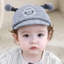 Cute Baby Boy Girl Autumn Winter Hat Cotton Soft Warm Kid Unisex Big Smile Print Hats
