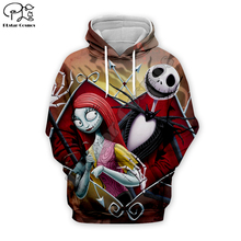 Halloween Jack Skelling skull print Men 3d casual Hoodies Corpse Bride Christmas women lovers Sweatshirt tshirt zipper pullover майка print bar jack skull