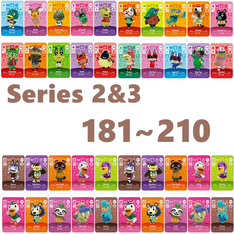 Animal Crossing Card Nfc Amiibo Card Work For NS Games Series 2/3 For Nintend Switch And Switch Lite (181 To 210)