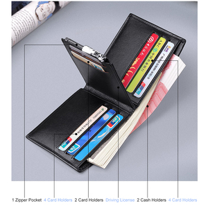 Image 3 - WILLIAMPOLO Mens Slim Wallet Genuine Leather Mini Purse Casual Design Bifold Brand Short Wallet Carteira Masculina PL191431SMT