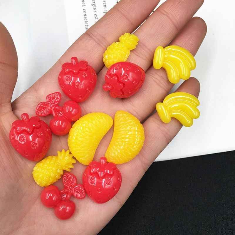 Buatan Tangan Stroberi Pisang Nanas Orange Epoxy Resin Cetakan Buah Cetakan