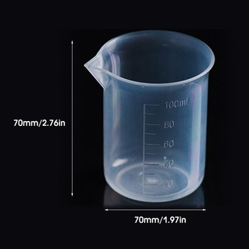 20pcs / High Quality 100ML Transparent Cup Clear Plastic Measuring Cup for Home Baking Kitchen Tools 1pc 100ml laboratory bottle lab kitchen plastic measuring cup measuring cup