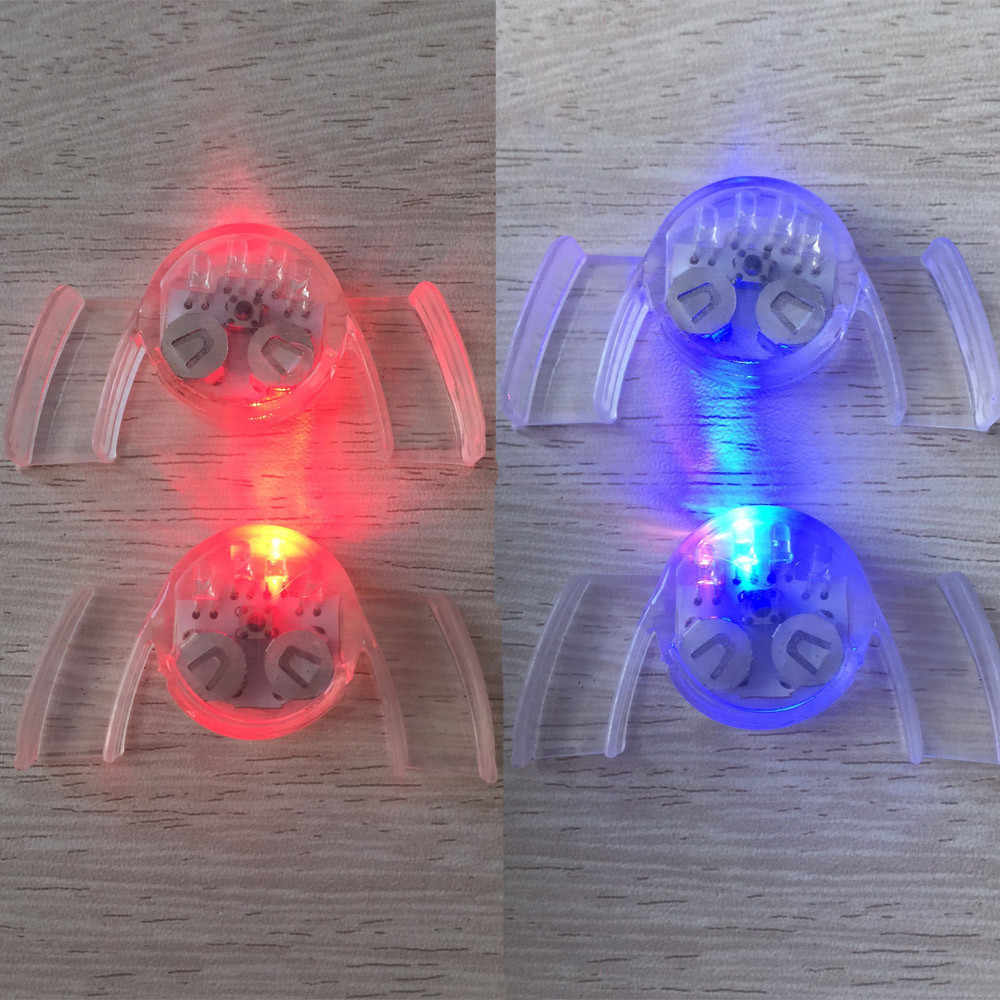 2Pcs Flashing LED Light Up Mouth Braces Piece Glow Teeth For Halloween Party Creative Gift Trick Novelty Funny Toys Scary #E30