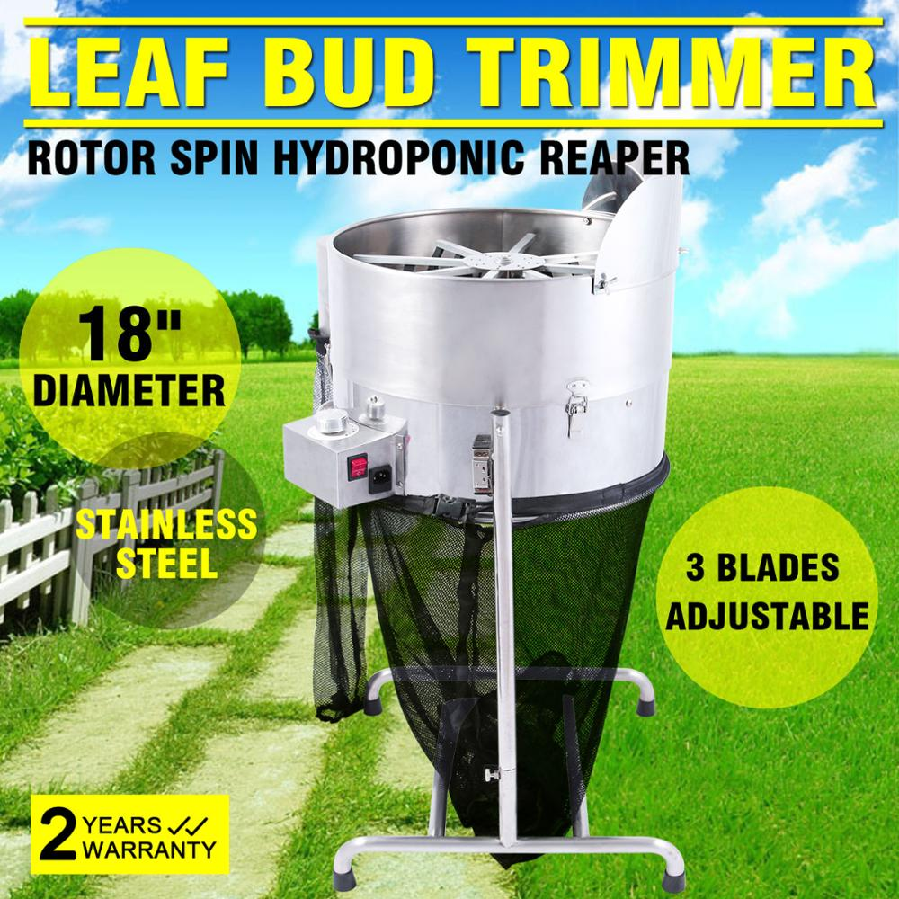 3 Speed 18 inch electric leaf trimmer Rotor Spin stainless steel grass bud trimmer CE APPROVED