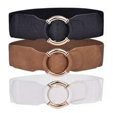Women's wide belt waist elastic stretch belts for women wrap