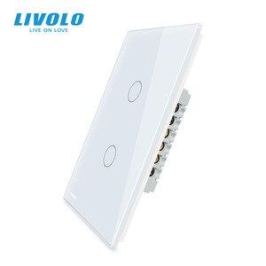 Image 2 - LIVOLO Hersteller Wand Schalter, interruptor 110v ,1way control Elfenbein Glas Panel, UNS Touch Licht Schalter, mit hintergrundbeleuchtung