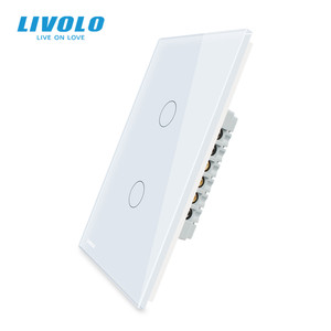 Image 2 - Livolo Fabrikant Wandschakelaar, Interruptor 110V, 1way Controle Ivory Glas Panel, Ons Touch Light Switch, met Backlight