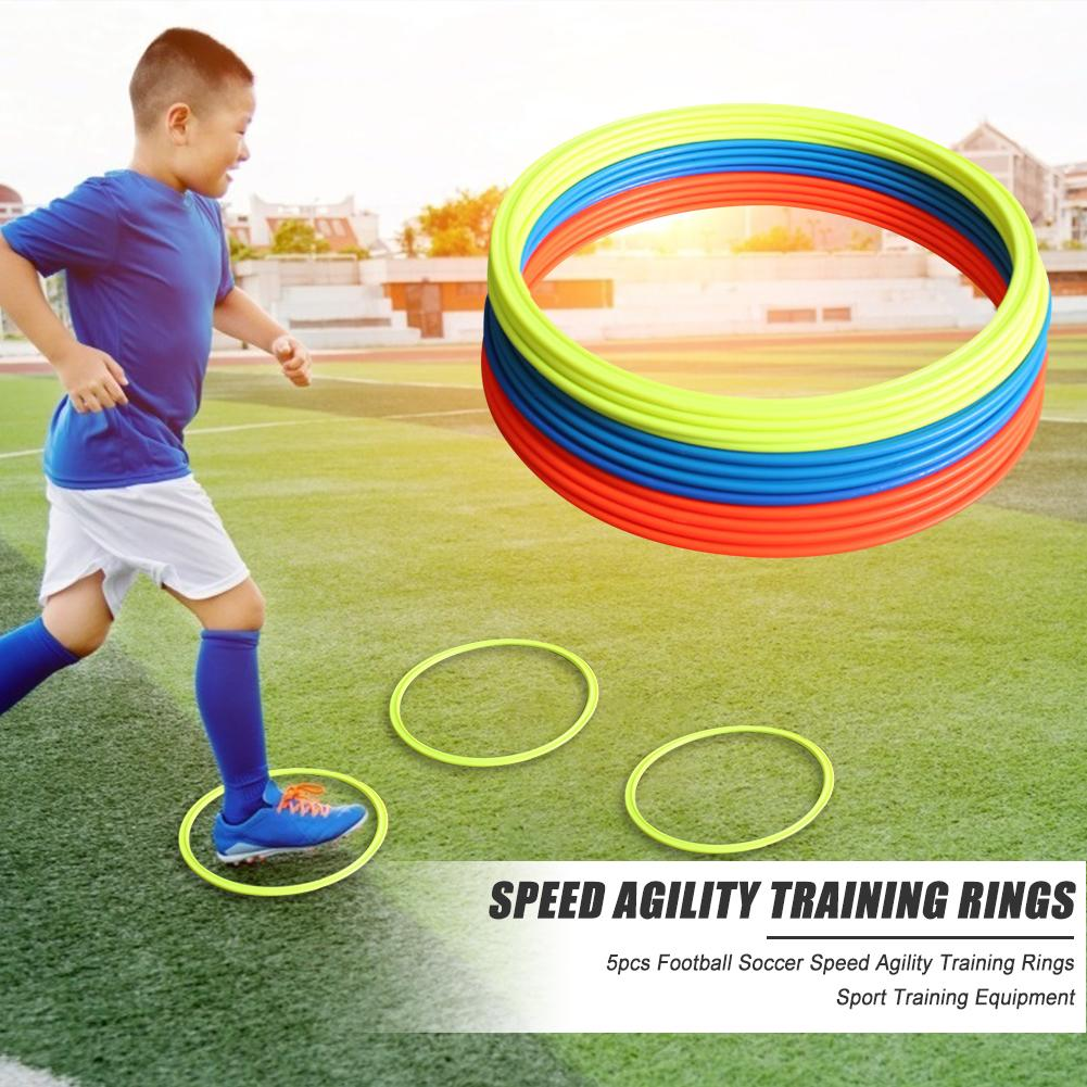 Durable Agility Training Rings Hit Color 5x Football Soccer Speed Agility Training Rings Training Equipment 30cm 40cm Dia