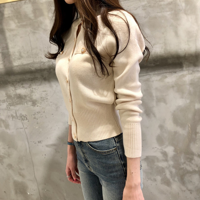 Ailegogo Women's Sweaters Autumn Winter 2020 Cardigans Knitted Button Single Breasted Fashion Korean Style Slim Solid Tops 2