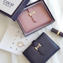 Fashion Genuine Leather Women Wallets Hasp Small And Slim Coin Pocket Purse Female Purses Cards Holders Luxury Brand Wallets