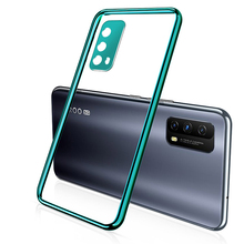 Funda transparente de TPU para teléfono Vivo X50 X60 Pro Plus V20 SE S9 Z1X, funda de silicona chapada suave para Vivo iQOO 7 Neo 3 5 Pro