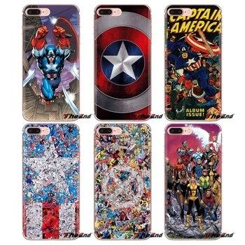 Marvel X-Men Capitán América funda transparente de TPU para LG G3 G4 Mini G5 G6 G7 Q6 Q7 Q8 Q9 V10 V20 V30 X Power 2 3 K10 K4 K8 2017