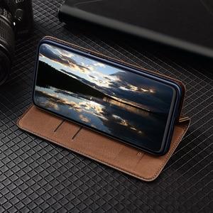 Image 4 - 360 מגנט טבעי אמיתי עור עור Flip ארנק ספר טלפון המקרה לאייפון 7 8 בתוספת 8 בתוספת X XR XS 11 12 מיני Pro מקסימום R S