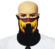 Glow Mask Glow Voice Control Glow Mask Masquerade Glow Mask Novelty Funny Toys KTV Halloween Party jackall dartrun yonesty o glow