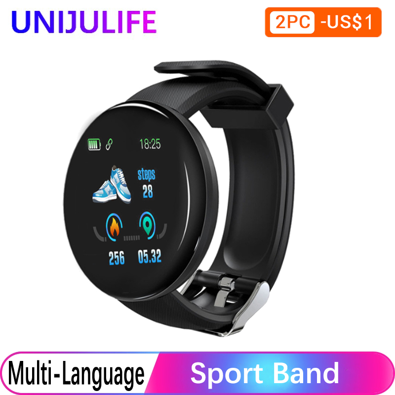Silica Gel Smart Watch Men Blood Pressure Watches Women Watch Waterproof Multi Language Sport Fitness Tracker For Android IOS