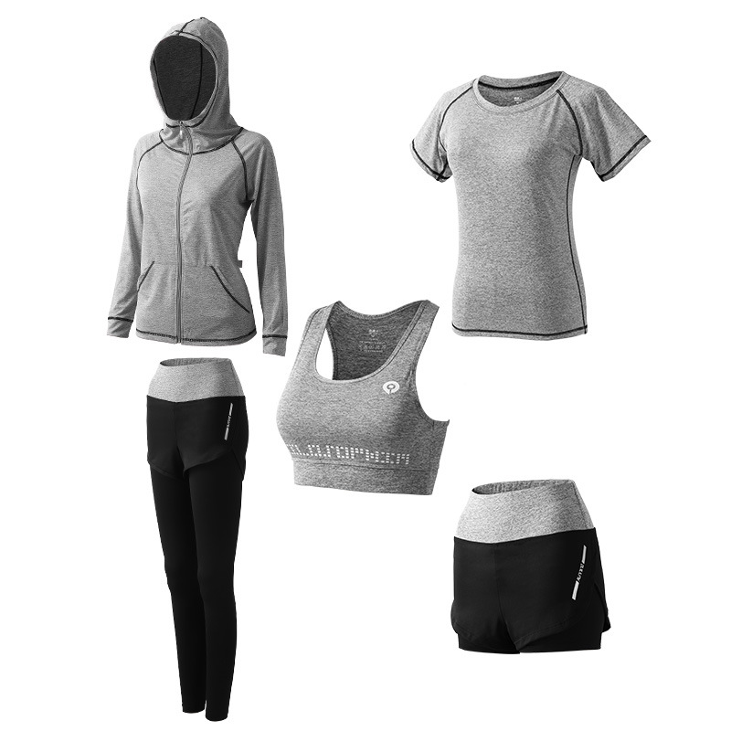 1Set/5Pcs Womens Yoga Sets Gym Training Running Female Workout Clothes for Women Sportswear Clothing