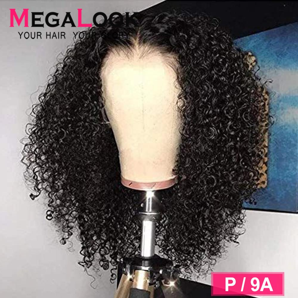 13x6 Lace Front Wig Curly Human Hair Wig 180 Density Glueless Preplucked 30 Inch Wigs For Women Megalook 13*6 Lace Frontal Wig