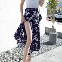 Fashion bust skirt new women in the summer of 2019 skirts long beach dress chiffon