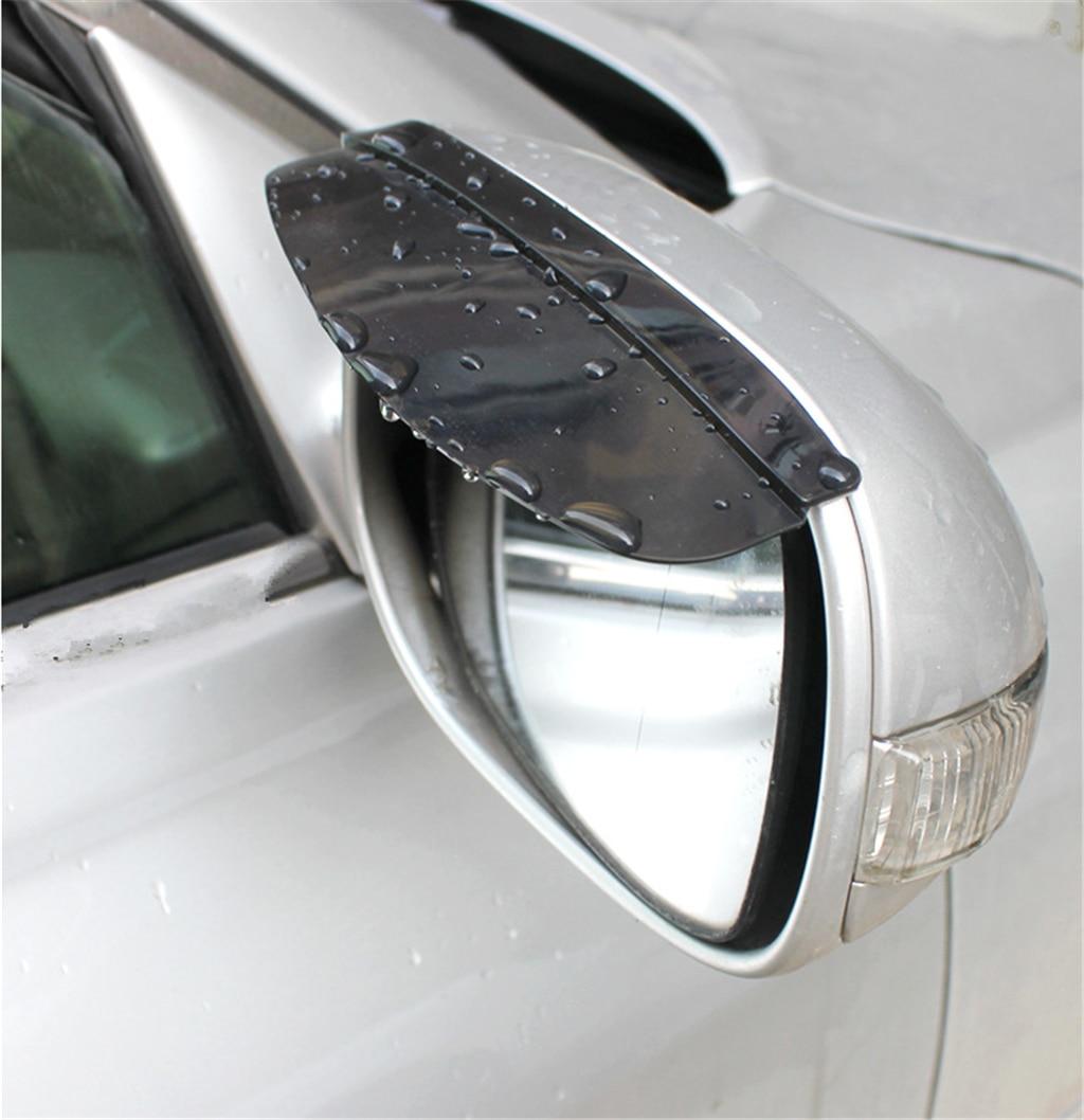 Filme Luz do Sol óculos de Sol Espelho retrovisor do carro chuva sobrancelha Clip Holder para Ford Transit Ka Focus Fusion Mustang Ranger F-150