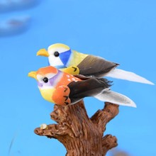 Zocdou 8 peças colorido pássaro família jardim modelo pequena estátua estatueta material orgânico artesanato figura ornamento miniaturas