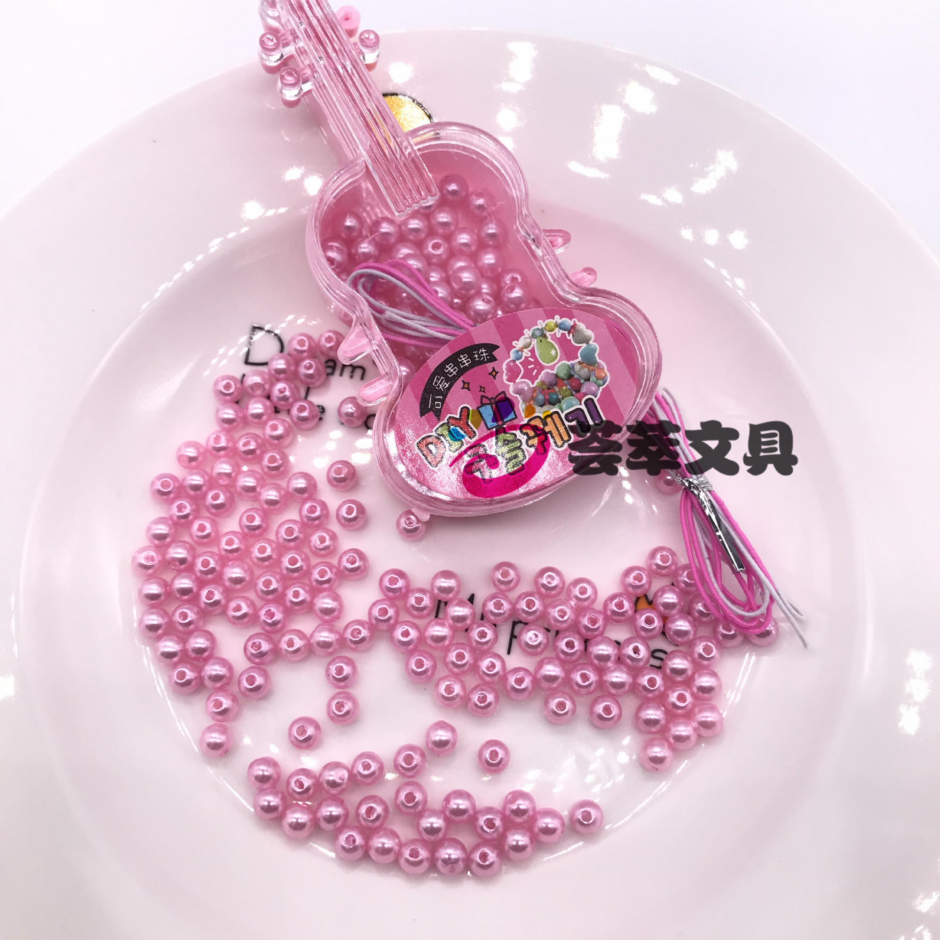 South Korea Violin Beaded Bracelet Children Pearl Wear Beads DIY Accessories GIRL'S Bracelets Necklace Weak Sight Training