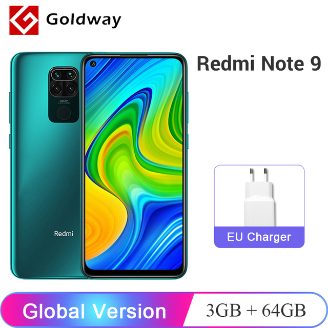Global Version Xiaomi Redmi Note 9 3GB 64GB / 4GB 128GB Smartphone Helio G85 Octa Core 48MP Quad Rear Camera 6.53″ 5020mAh 1