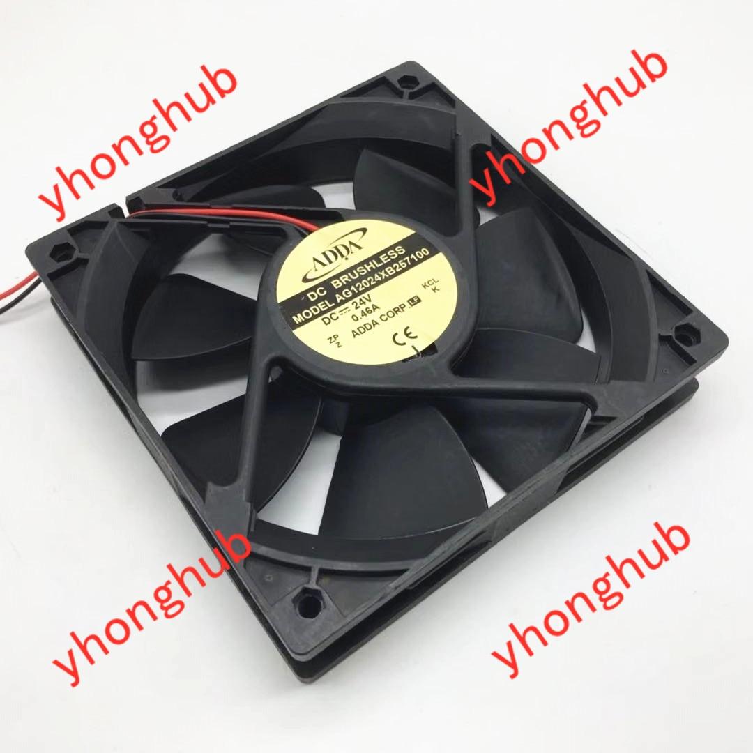ADDA AG12024XB257100 DC 24V 0.46A 120x120x25mm Server Cooling Fan