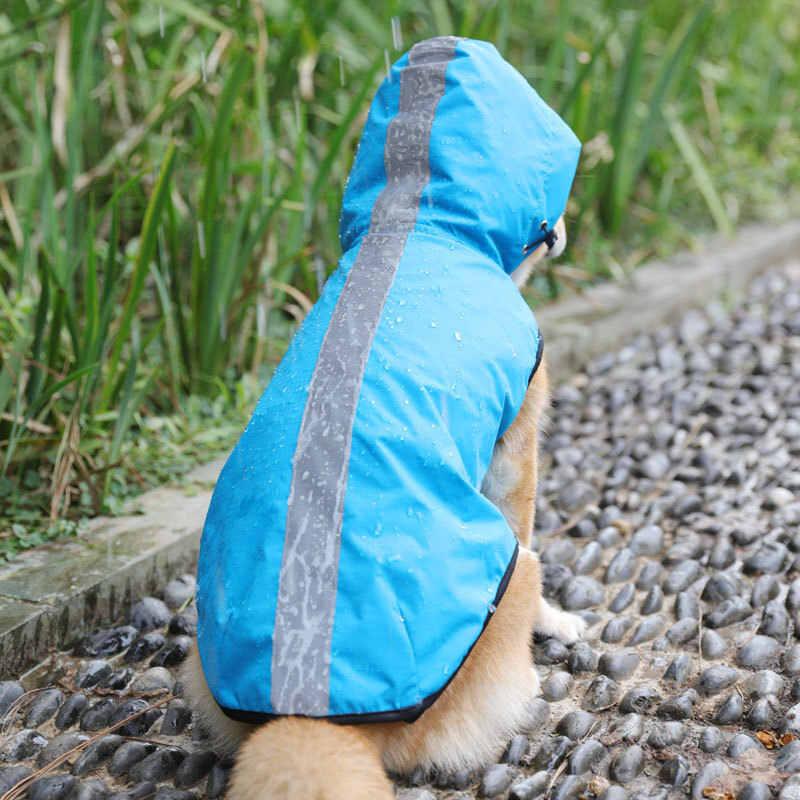 עמיד למים לחיות מחמד כלב קטן מעיל גשם גדול כלב בגדים חיצוני אפוד מעיל כלבלב סלעית גשם מעיל רעיוני גדול כלב פונצ 'ו רשת