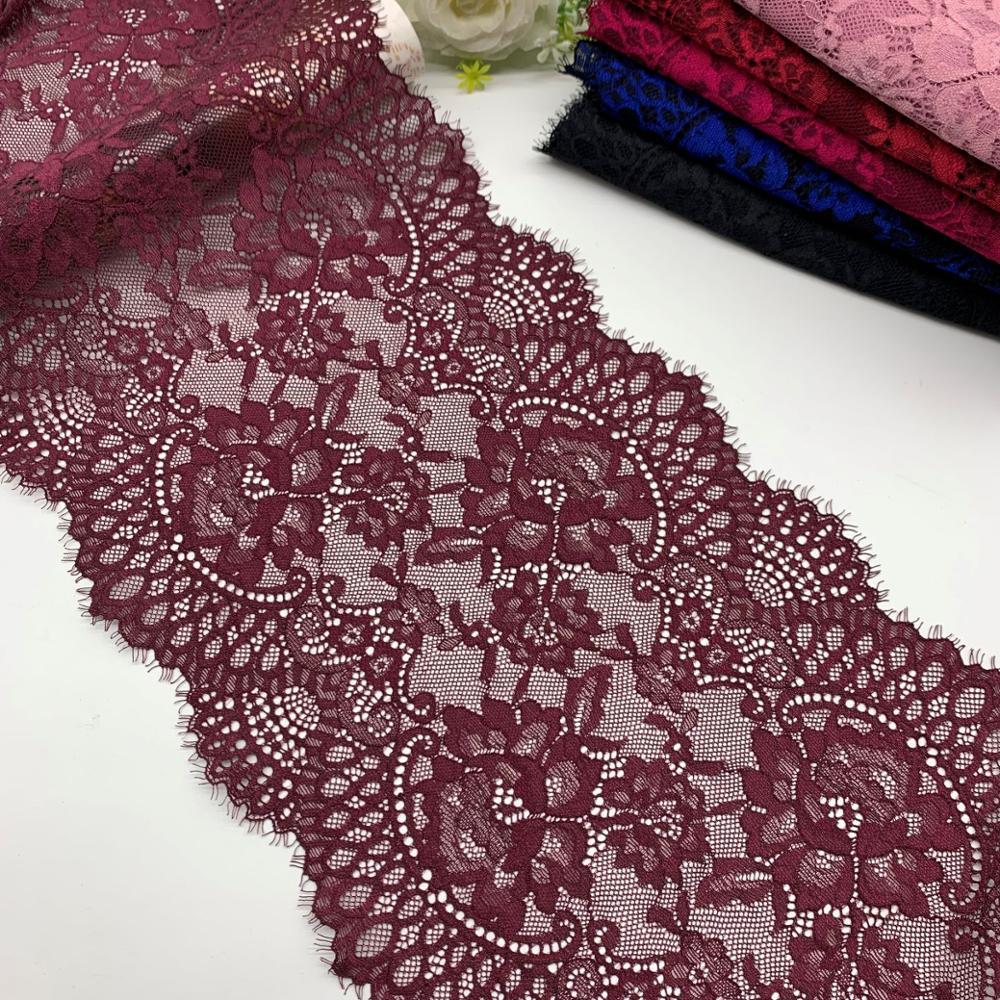 63*300cm Eyelash Lace Trim Mesh Ribbon Sewing Crafts Wedding Dress Making Decor