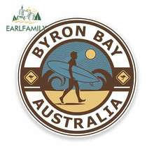 EARLFAMILY 13cm x for Byron Bay Australia Funny Car Stickers Oem Bumper Trunk Truck Graphics Fine Decal Accessories