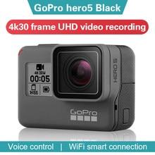 Gopro hero 5 preto câmera de ação 4k 30 fram esportes ultra hd dv wifi anti shake câmera movimento motocicleta equitação e esqui câmera