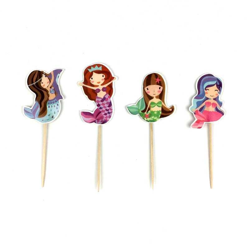 Decoracion Baby Shower Nina De Princesa.24 Uds Princesa Sirenita Suministros De Recuerdos Para