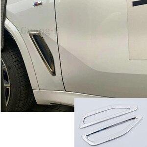 Высококачественная Крышка для автомобиля ABS Хромированная передняя сторона листва лист крыло вентиляционное отверстие выход лампа отделк...