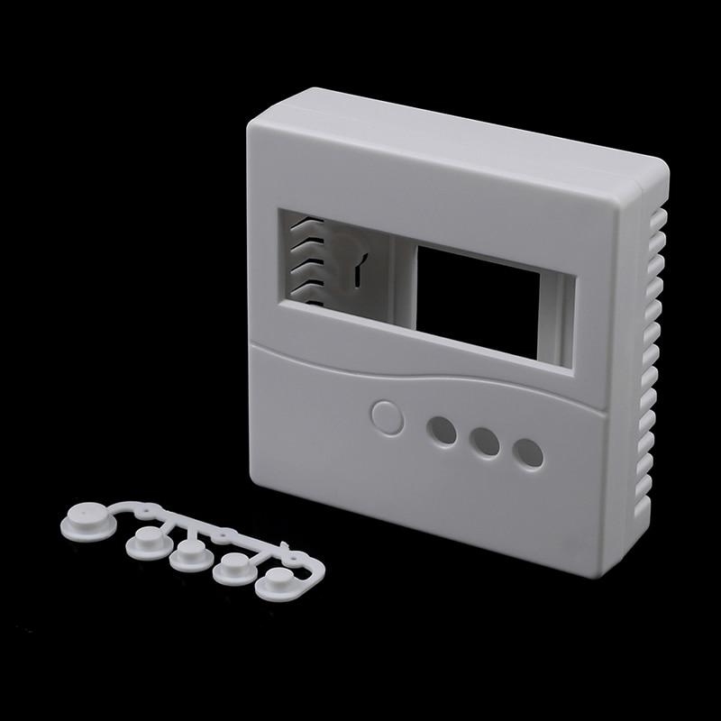 1 шт. белый чехол для DIY LCD1602 Измеритель Тестер с кнопкой 86 пластиковый корпус проектной коробки 8.6x8.6x2.6cm