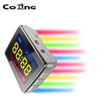 New LLLT Laser Watch Acupuncture Stimulator 650nm Yellow Blue Green Light Therapy Diabetes Varicose Veins Blood Clean